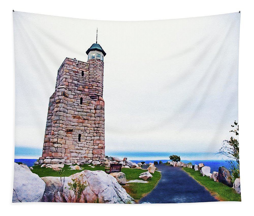 Sky Tapestry featuring the photograph Watchtower Of The Sky by Jeremy Schwartz