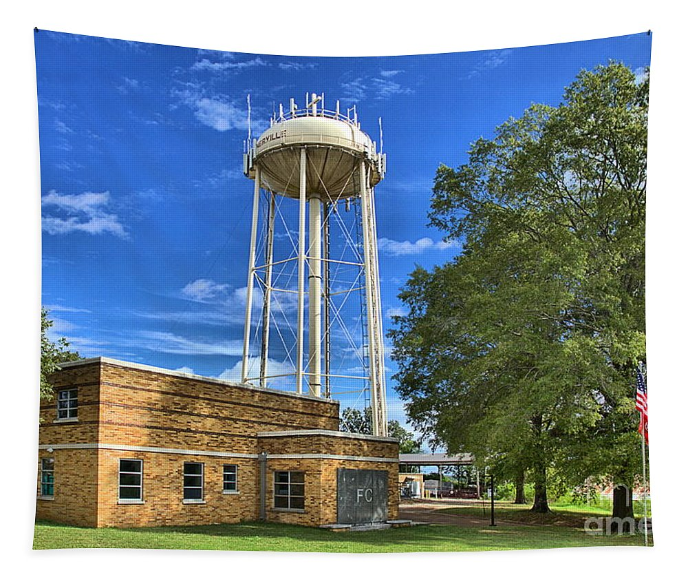 Tapestry featuring the photograph Water Tower by James Larkin