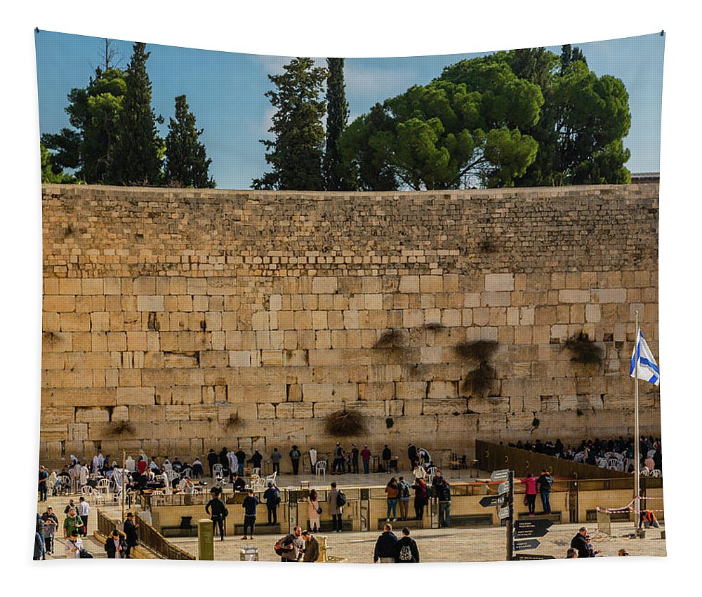 Ancient Tapestry featuring the photograph Western Wall by Sean O'Cairde