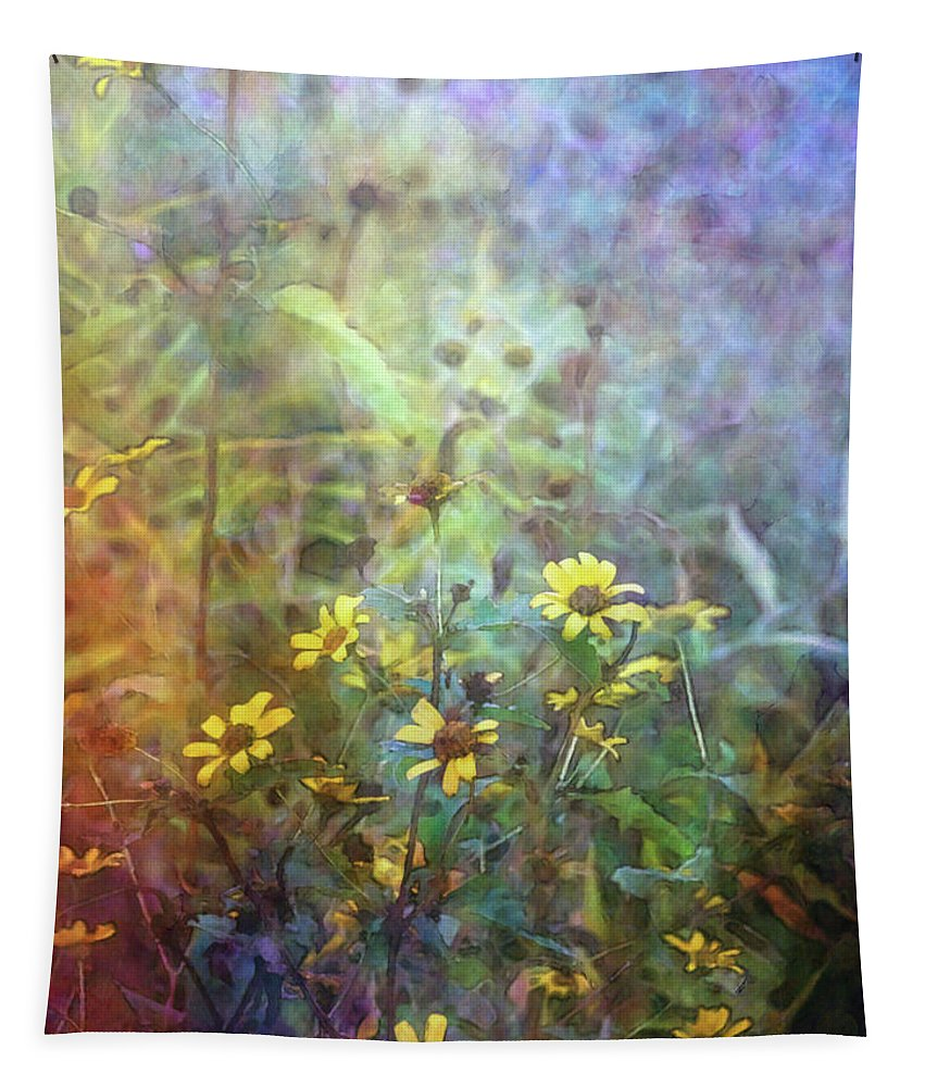 Impressionist Tapestry featuring the photograph Wildflower Tangle 5694 Idp_2 by Steven Ward
