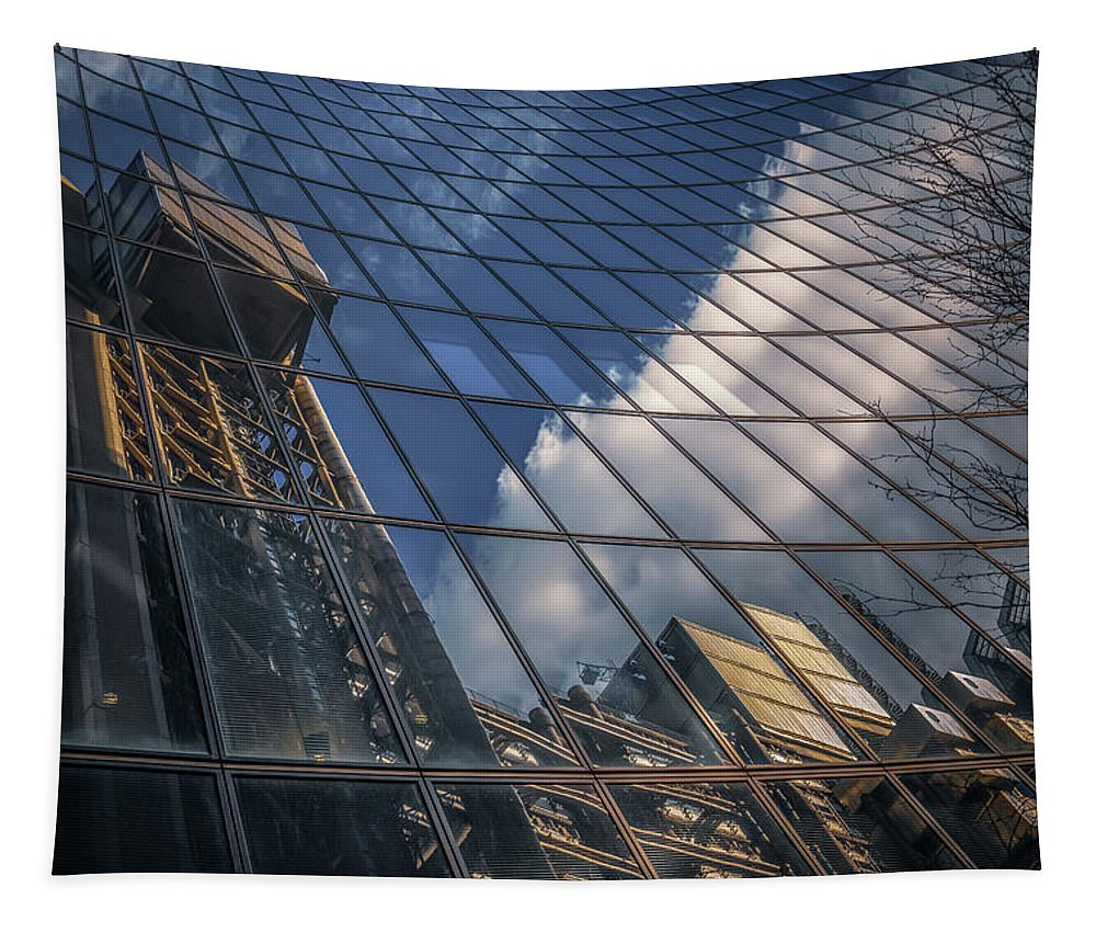 Architecture Tapestry featuring the photograph Willis Building Reflections No 3 by Chris Fletcher