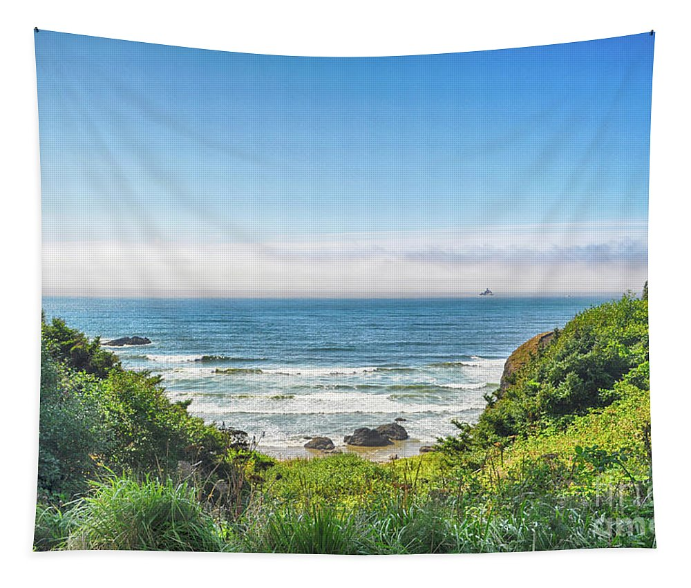 Landscape Tapestry featuring the photograph Wind And Waves by Julia Telligman