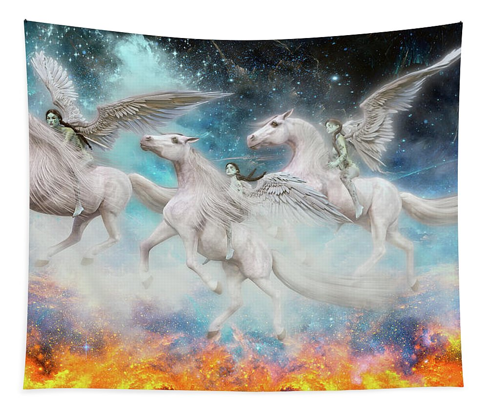 Angel Tapestry featuring the digital art Wrinkles In Time by Betsy Knapp