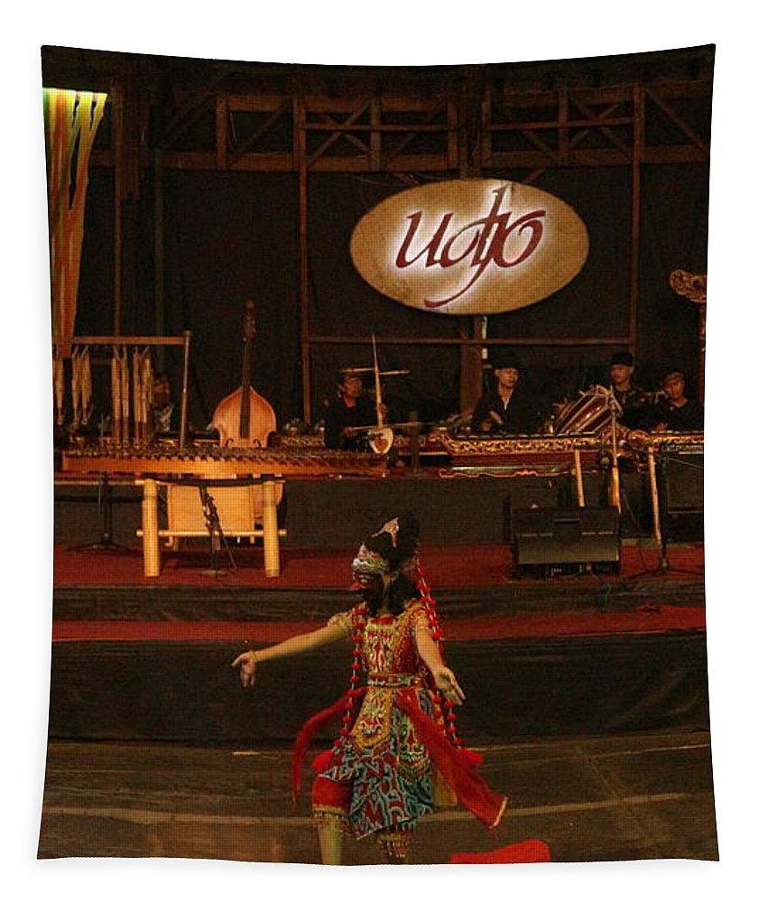 Dance Tapestry featuring the photograph Mask Dance by Lingga Tiara Setiadi