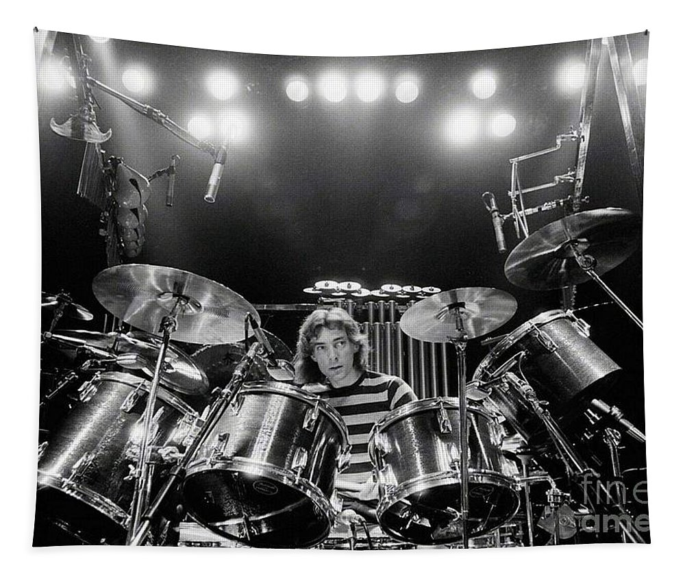 Rush Tapestry featuring the digital art Rush Neil Peart Poster by Trindira A