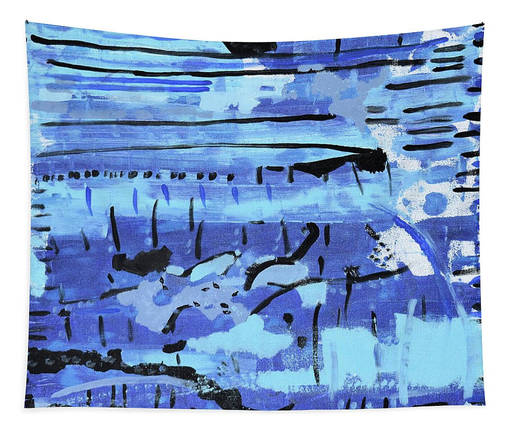Colorado Tapestry featuring the painting Something Blue by Pam Roth O'Mara