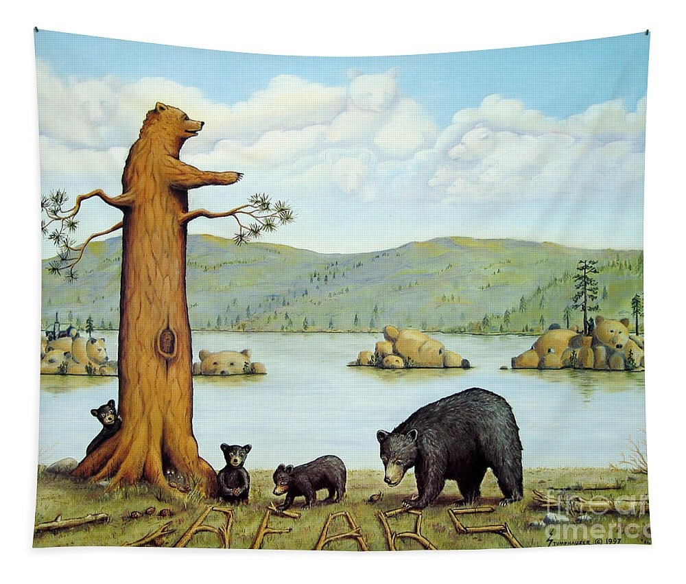 Bears Tapestry featuring the painting 27 Bears by Jerome Stumphauzer