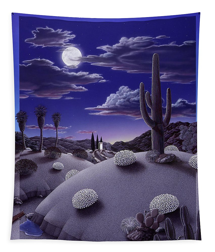 Desert Tapestry featuring the painting After the Rain by Snake Jagger