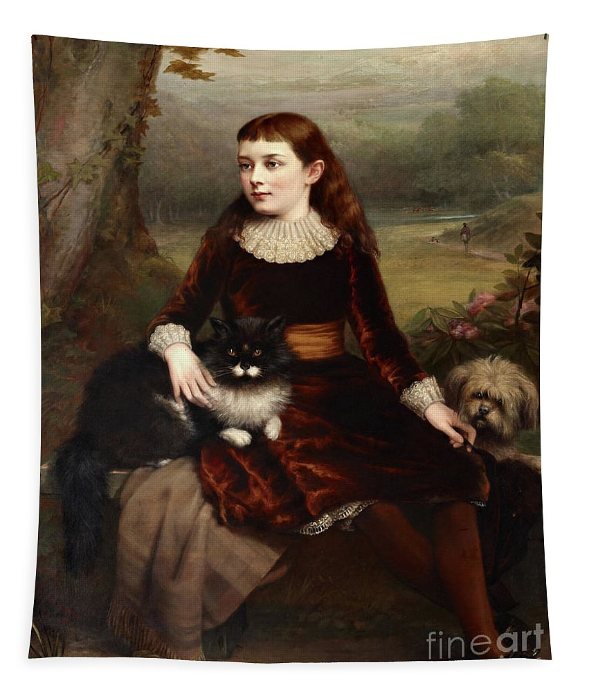 Burlison Tapestry featuring the painting Alice Frances Theodora Wythes, Marchioness Of Bristol As A Young Girl by Clement Burlison