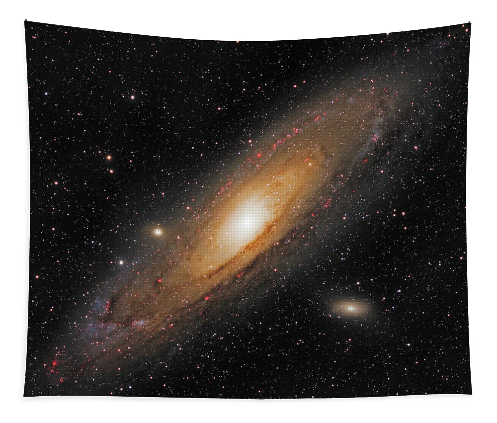 Andromeda Galaxy Tapestry featuring the photograph Andromeda Galaxy by Prabhu Astrophotography