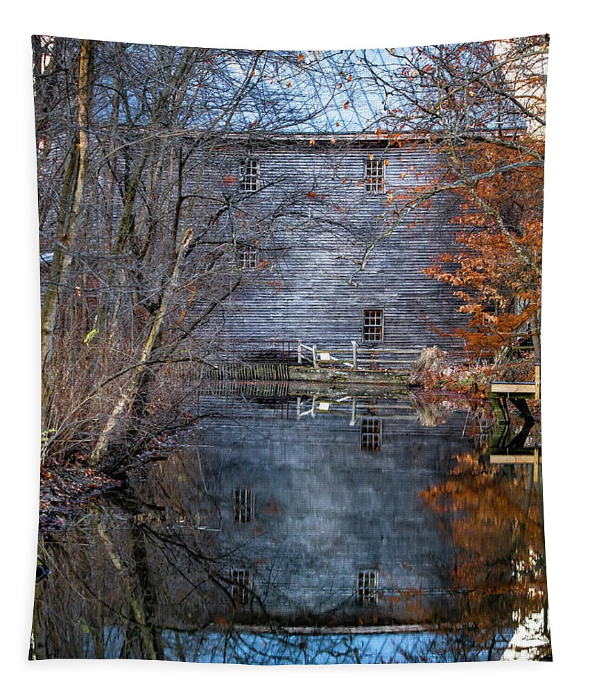 Grist Mill Tapestry featuring the photograph Bear's Mill - Darke County, Ohio by Scott Smith