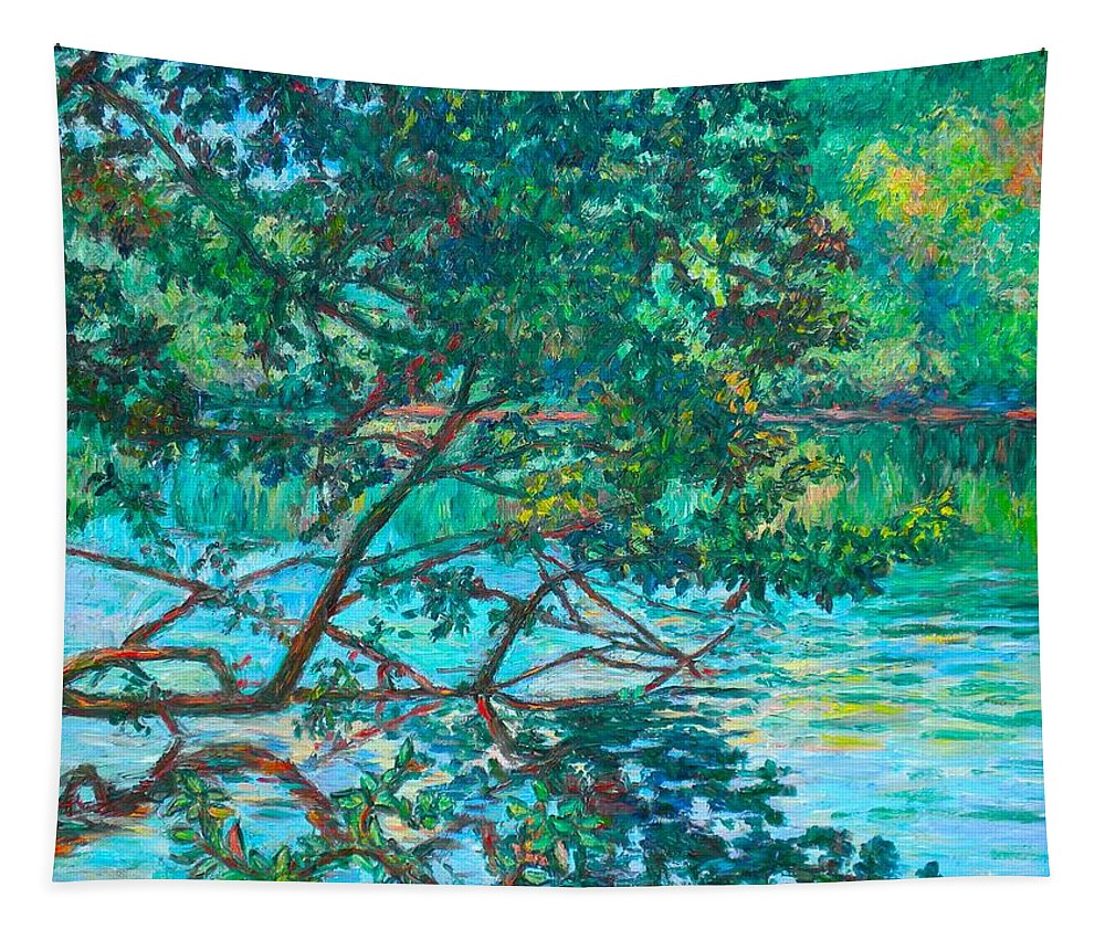 Landscape Tapestry featuring the painting Bisset Park by Kendall Kessler