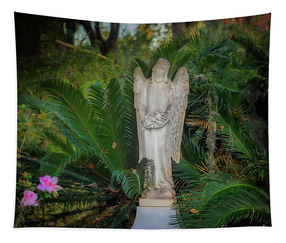 America Tapestry featuring the photograph Bonaventure Angel by Inge Johnsson