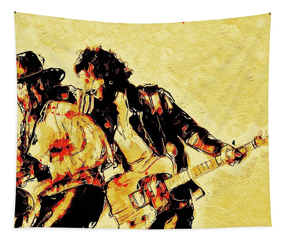 Bruce Springsteen Tapestry featuring the digital art Bruce Springsteen and clarence clemons Classic by Unexpected Object