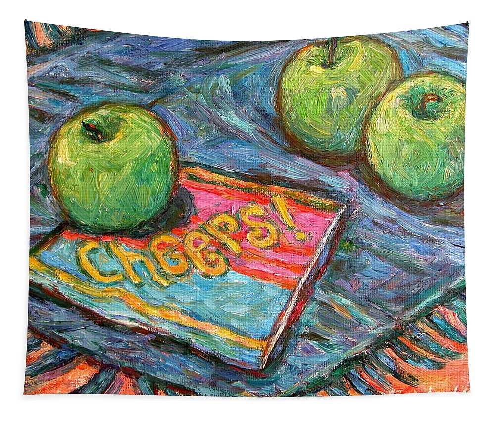 Still Life Tapestry featuring the painting Cheers by Kendall Kessler