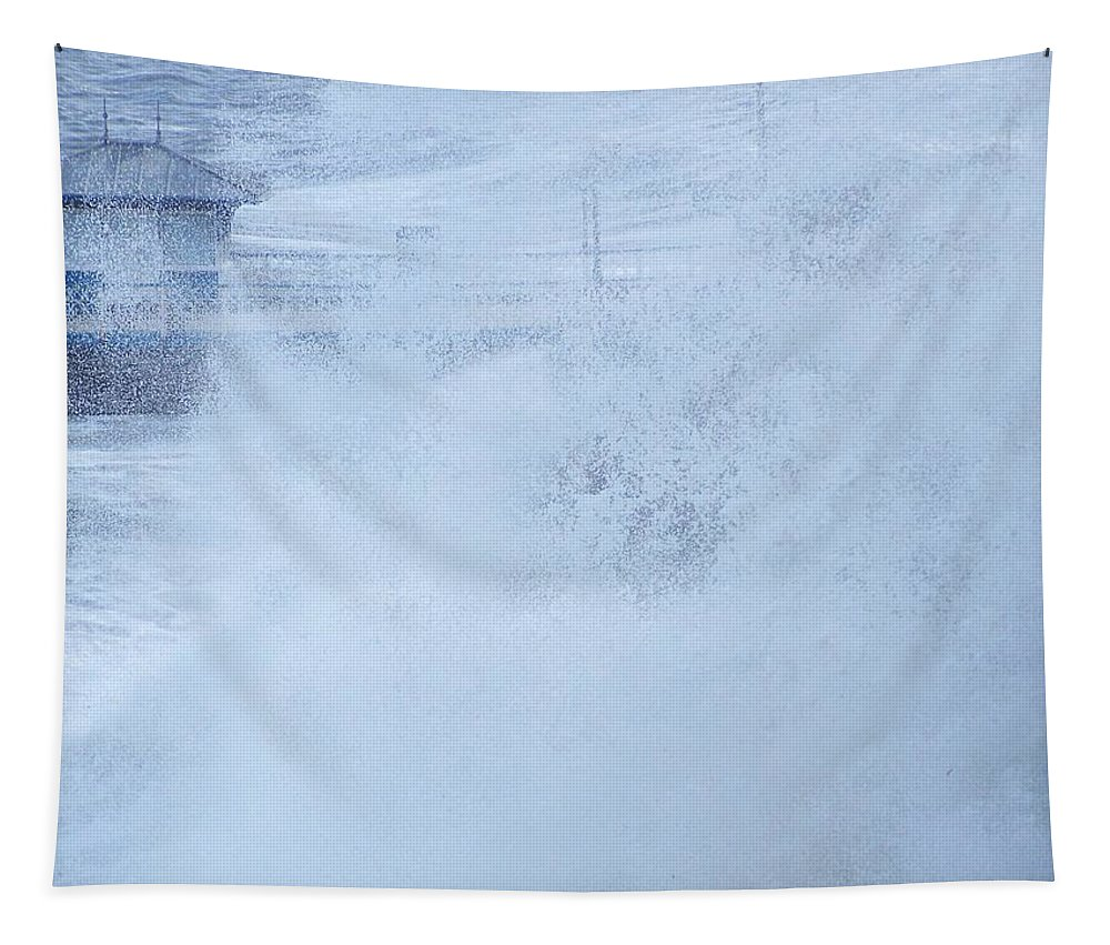 Waves Tapestry featuring the photograph Close one by Christopher Rowlands