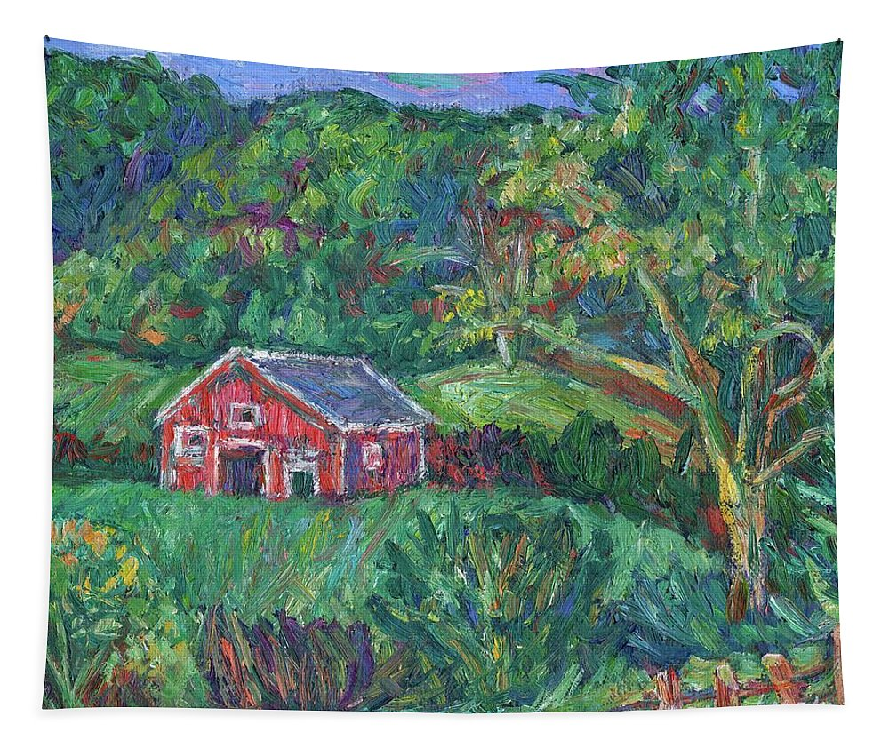 Rural Tapestry featuring the painting Clover Hollow in Giles County by Kendall Kessler