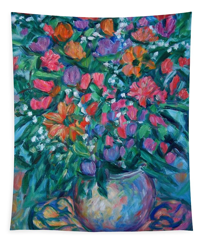 Floral Paintings Tapestry featuring the painting Dream Bouquet by Kendall Kessler