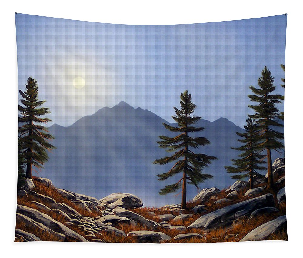 Evening Sun Tapestry featuring the painting Evening Sun by Frank Wilson
