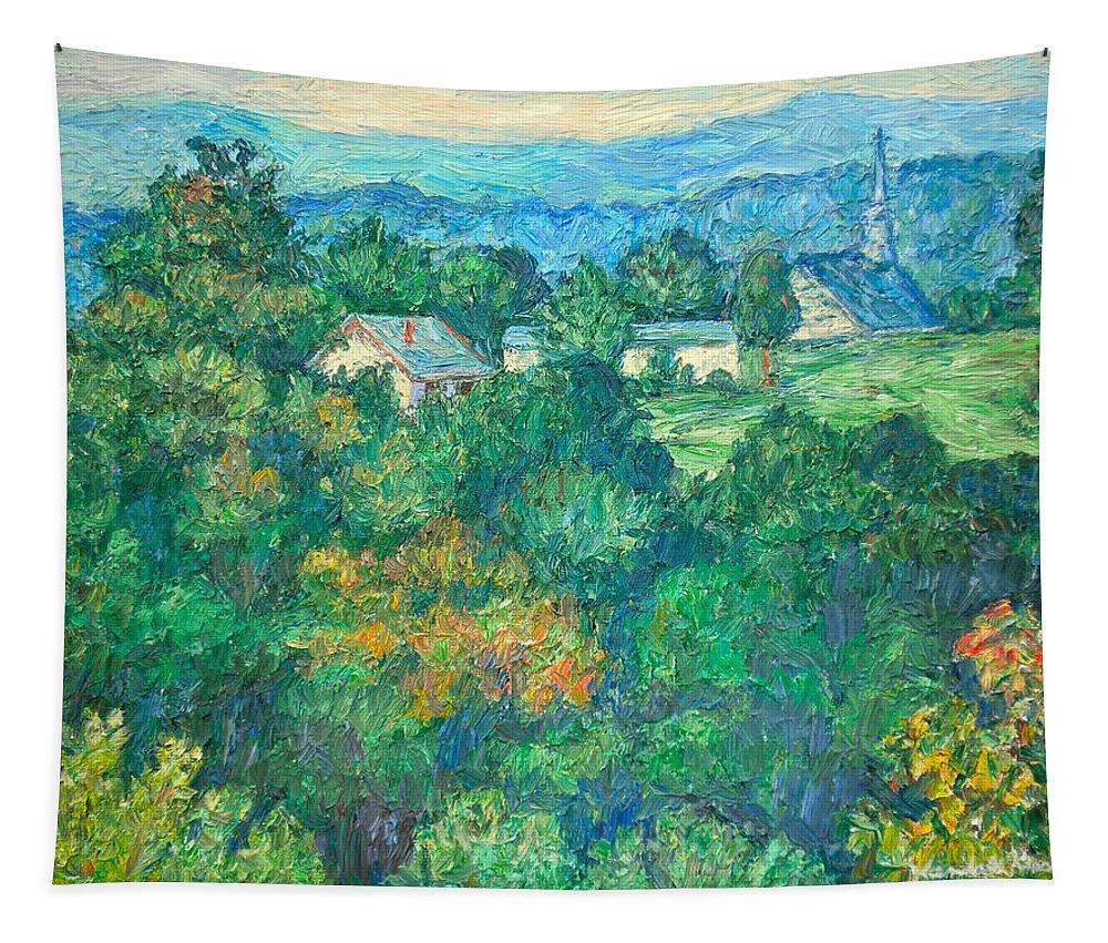 Kendall Kessler Tapestry featuring the painting Fairlawn Ridge by Kendall Kessler