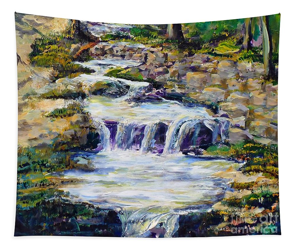 Los Angeles Tapestry featuring the painting Fern Dell Creek Noon by Randy Sprout