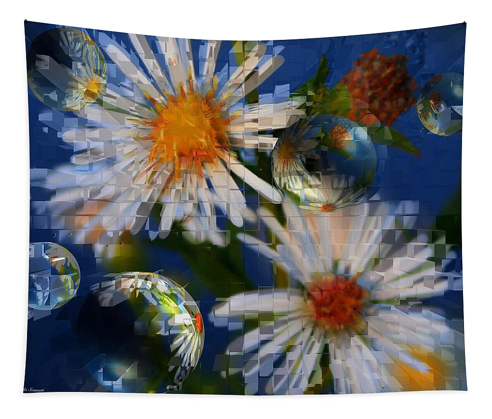 Flowers Tapestry featuring the photograph Flower World by Linda Sannuti