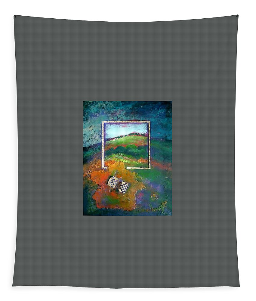 Impressionist Tapestry featuring the painting Focal point by Farhan Abouassali