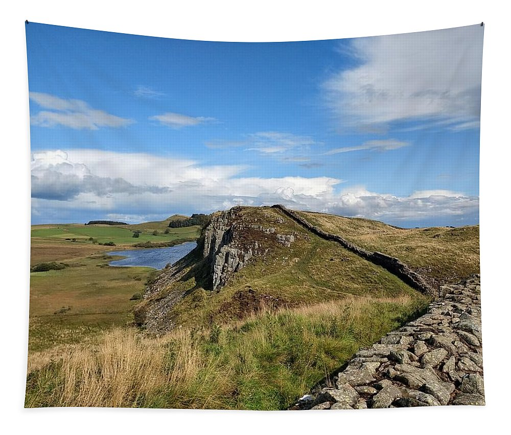 Landscape Tapestry featuring the photograph Hadrianswall by Pop
