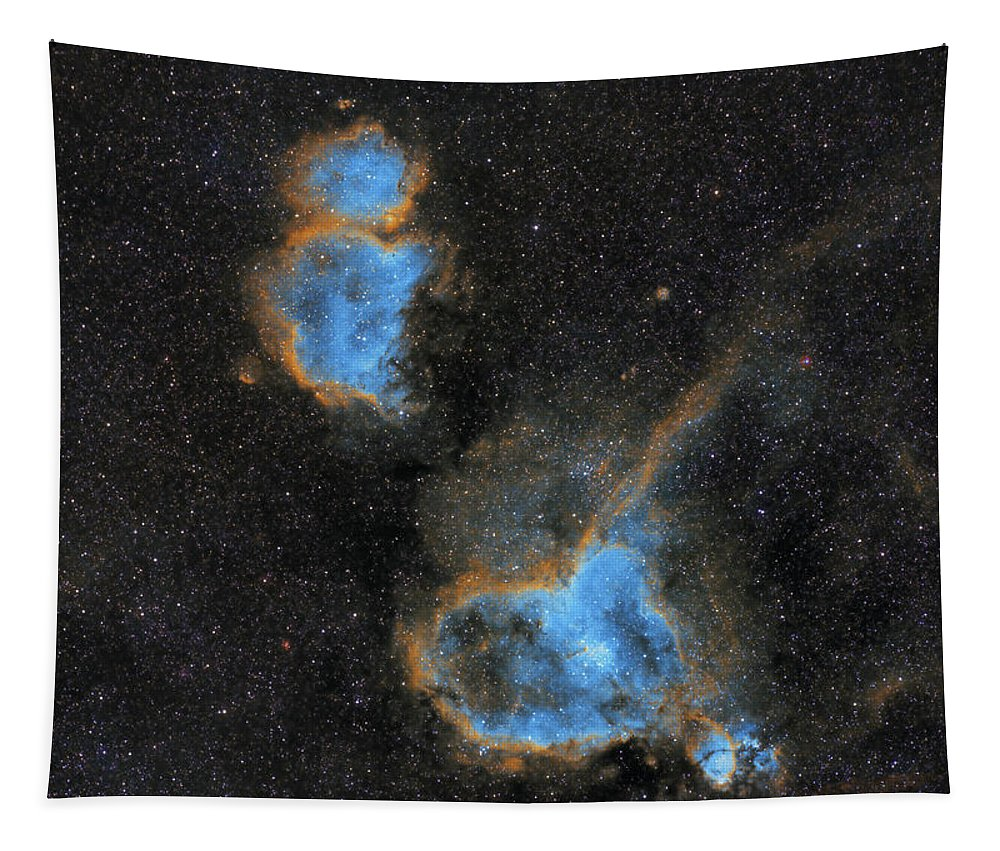 Nebula Tapestry featuring the photograph Heart and Soul Nebula by Prabhu Astrophotography