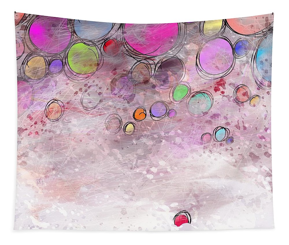 Abstract Tapestry featuring the digital art In a world alone by William Russell Nowicki