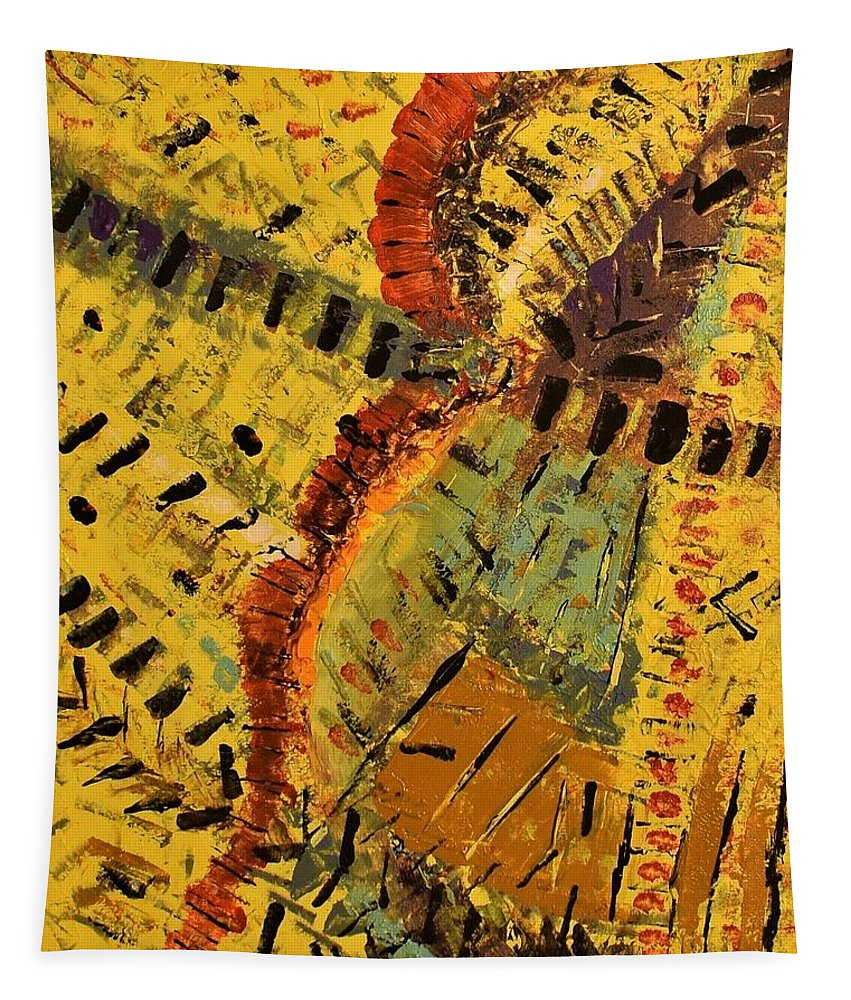 Abstract Tapestry featuring the painting Jungle by Pam Roth O'Mara