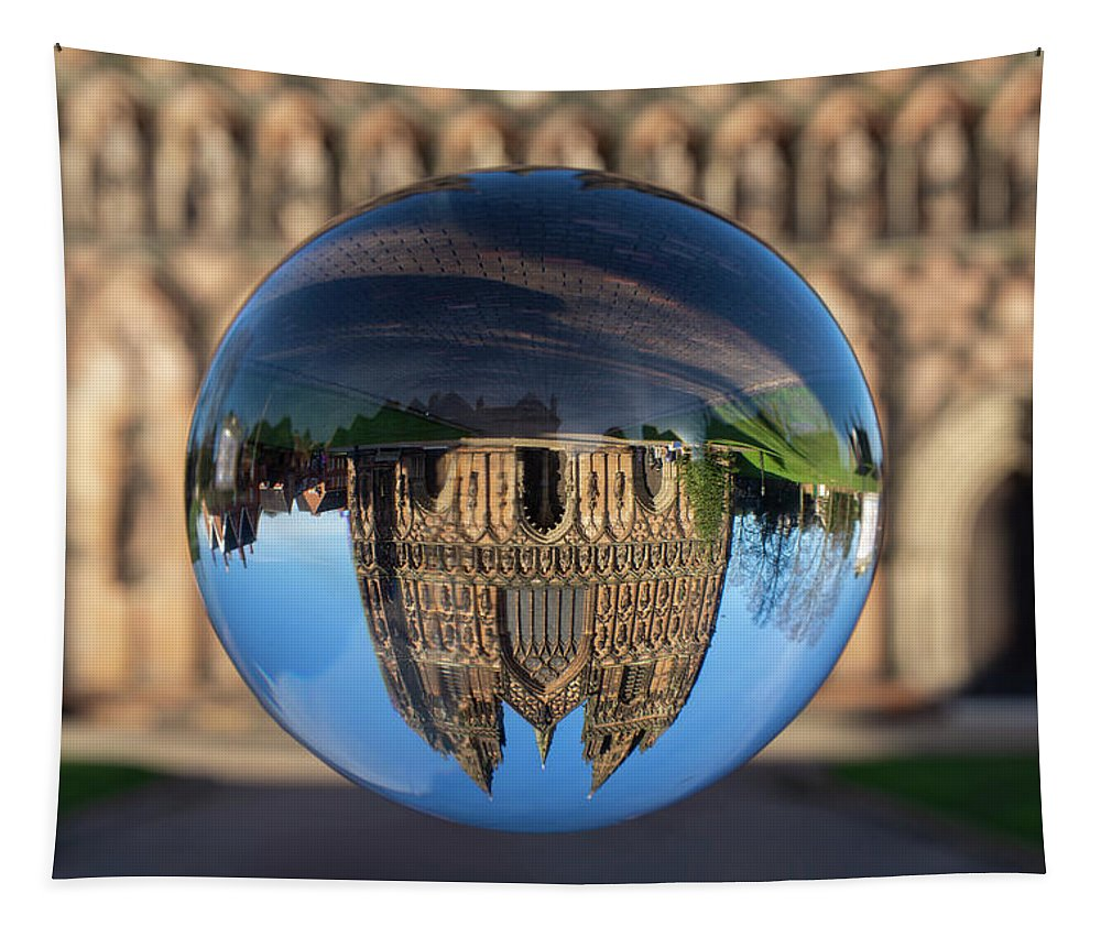 Lichfield Tapestry featuring the photograph Lichfield lens ball by Steev Stamford
