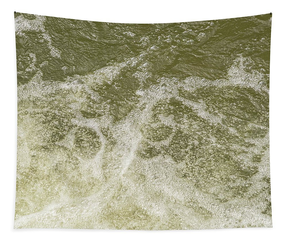 Like Champagne Bubbles Tapestry featuring the photograph Like Champagne Bubbles - Effervescent River Flows Rhythm by Georgia Mizuleva