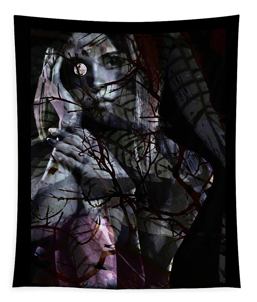 Woman Tapestry featuring the digital art Luna by Gunilla Munro Gyllenspetz