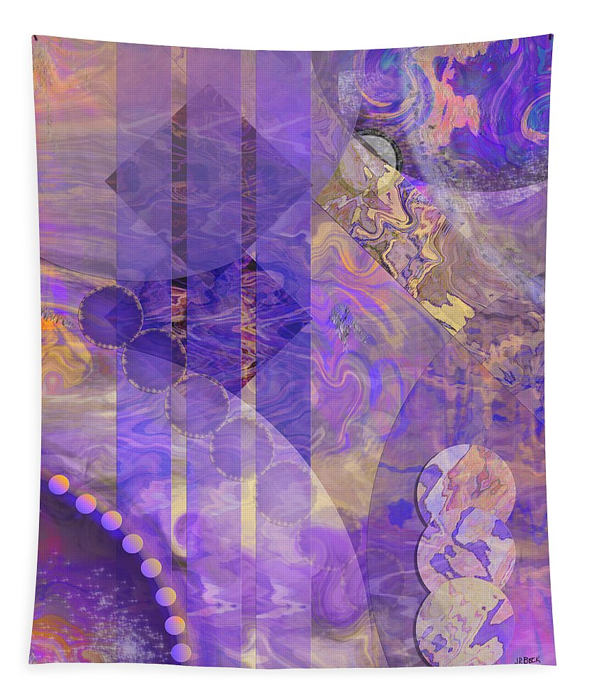 Lunar Impressions 2 Tapestry featuring the digital art Lunar Impressions 2 by John Robert Beck