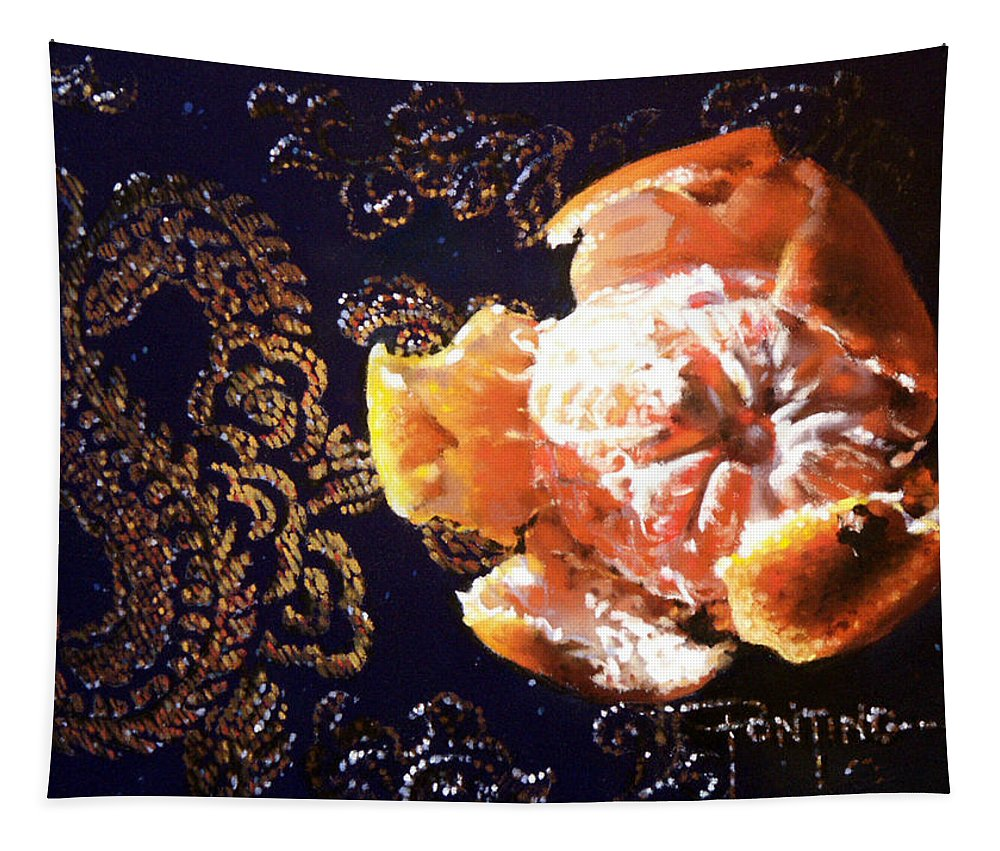 Mandarin Tapestry featuring the painting Mandarin by Dianna Ponting