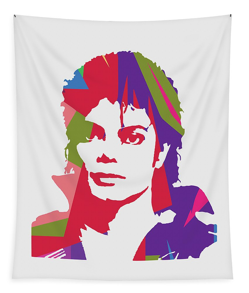 Michael Jackson Tapestry featuring the digital art Michael Jackson 2 POP ART by Ahmad Nusyirwan