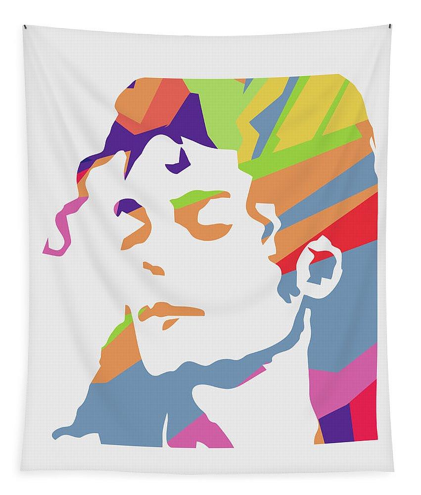 Michael Jackson Tapestry featuring the digital art Michael Jackson 3 POP ART by Ahmad Nusyirwan