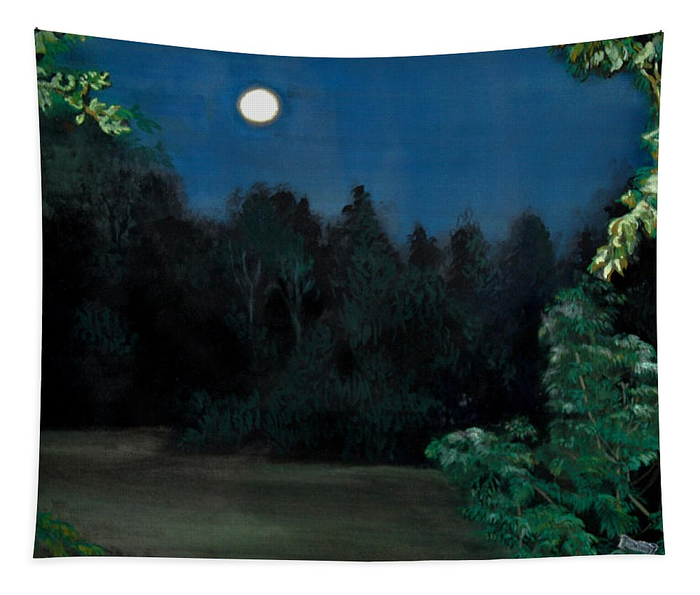Moon Tapestry featuring the painting Moon Shadow by Susan Moore