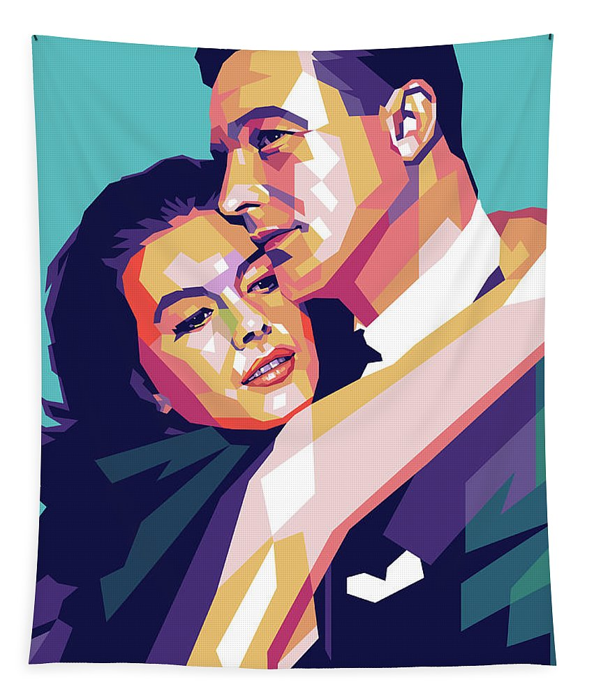 Natalie Tapestry featuring the digital art Natalie Wood And Gene Kelly by Stars on Art