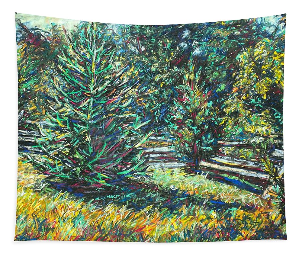 Landscape Tapestry featuring the painting Near Smithfield Plantation by Kendall Kessler