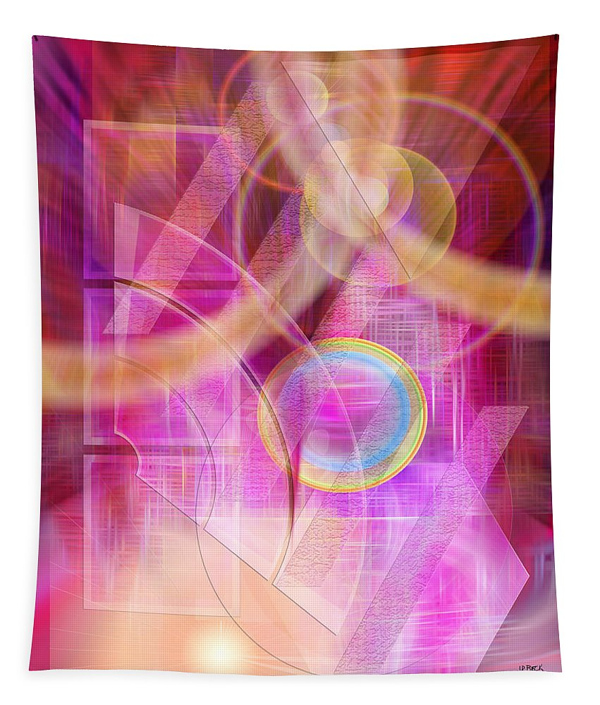 Northern Lights Tapestry featuring the digital art Northern Lights by John Robert Beck