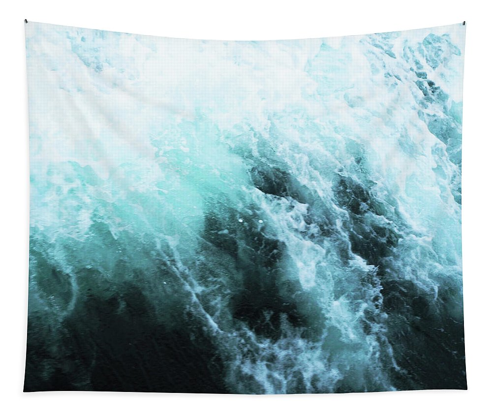 Ocean Tapestry featuring the photograph Ocean Spray II by Cassia Beck