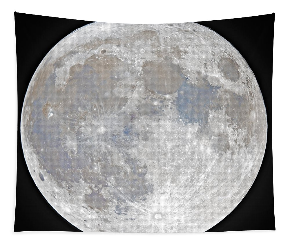 Fullmoon Tapestry featuring the photograph October 2020 Halloween Full/Blue Moon by Prabhu Astrophotography