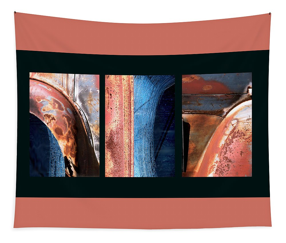 Abstract Tapestry featuring the photograph Ole Bill by Steve Karol