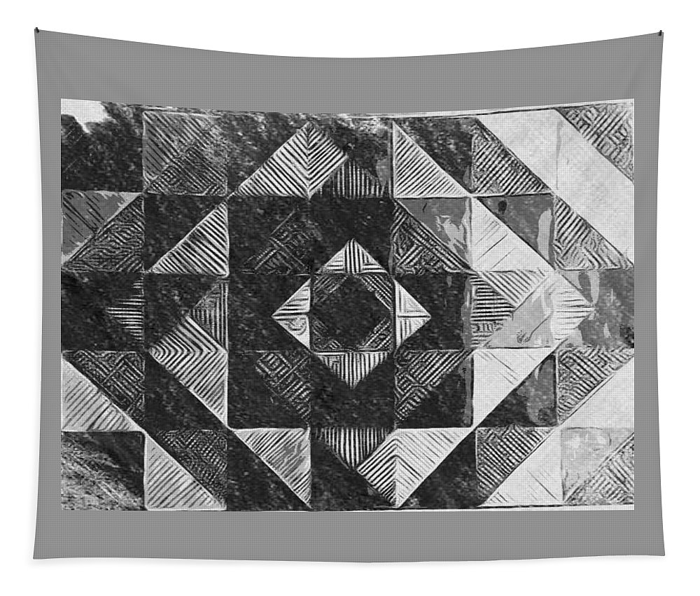 Art Tapestry featuring the digital art Originated From Within by Andrew Johnson