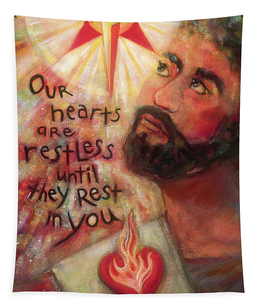 Jen Norton Tapestry featuring the painting Our Hearts Are Restless by Jen Norton