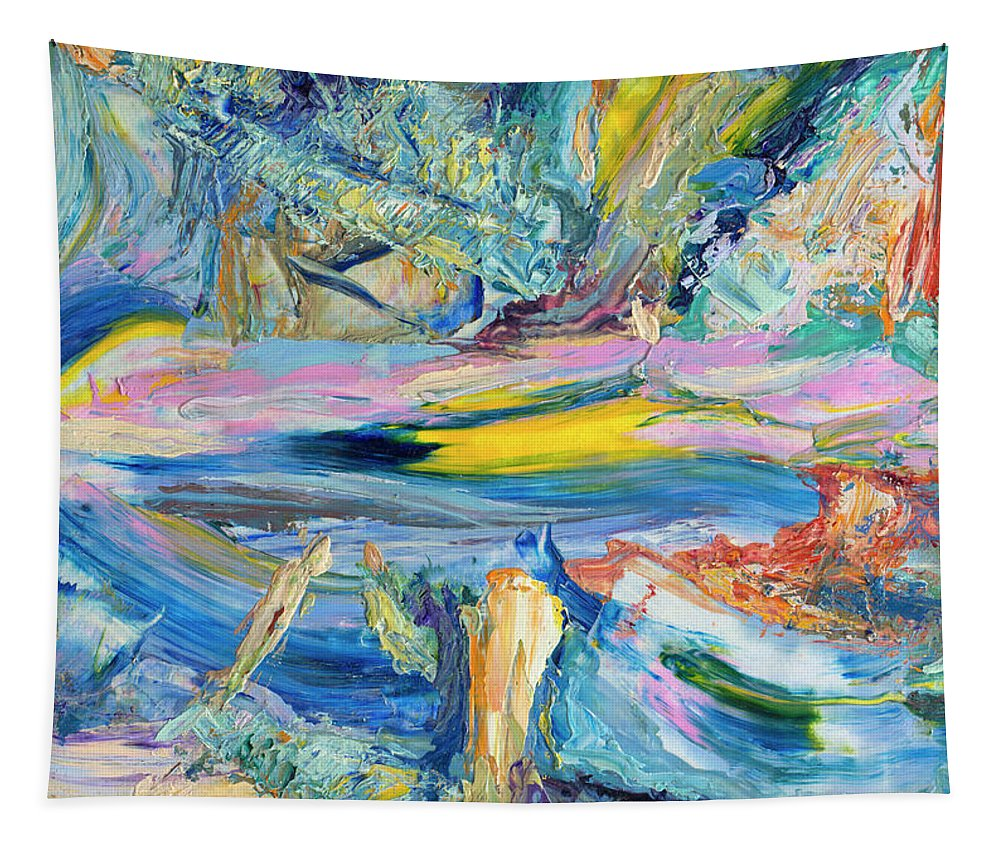 Abstract Tapestry featuring the painting Paint number 31 by James W Johnson