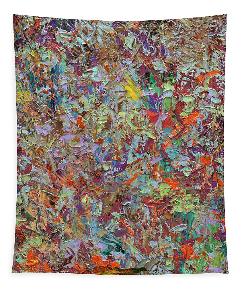 Abstract Tapestry featuring the painting Paint number 33 by James W Johnson