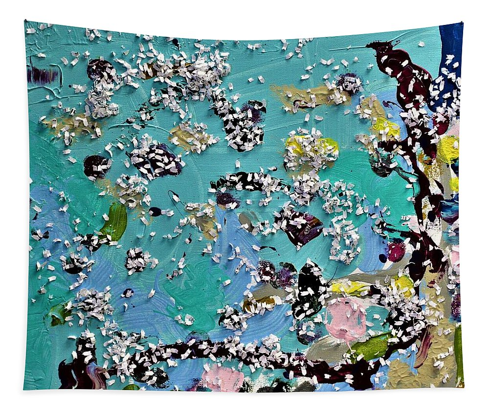 Blue Tapestry featuring the painting Party Time by Pam Roth O'Mara